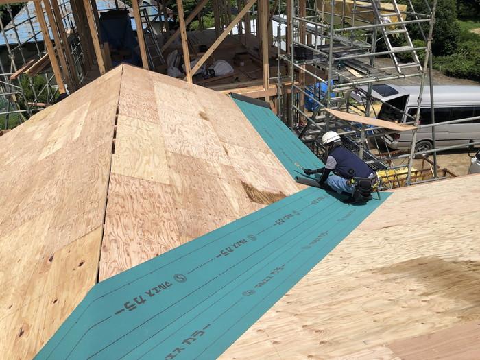 屋根防水を施工します。郡山市日和田町  郡山市 新築住宅 大原工務店のブログ