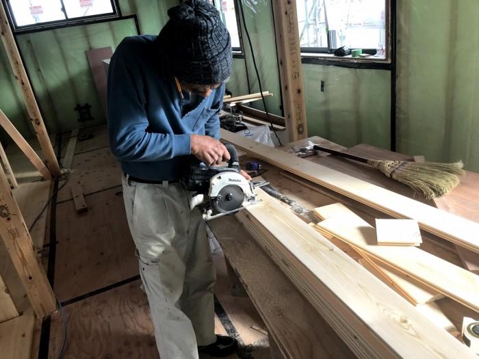 無垢のフローリング張です。|郡山市 新築住宅 大原工務店のブログ