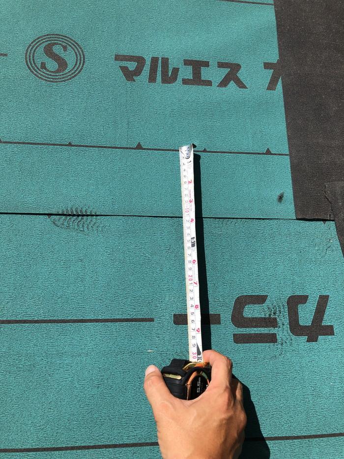 重ね幅の確認です。郡山市日和田町  郡山市 新築住宅 大原工務店のブログ