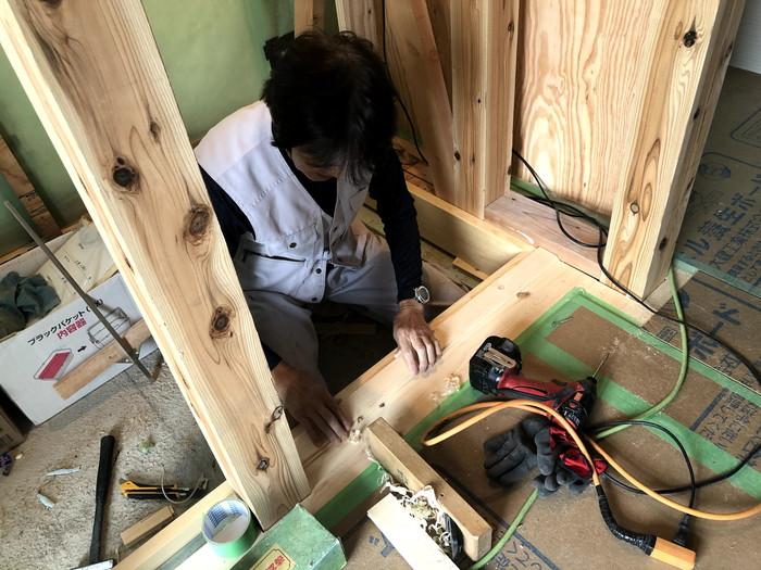 框を施工していきます。郡山市久留米K様邸| 郡山市 新築住宅 大原工務店のブログ