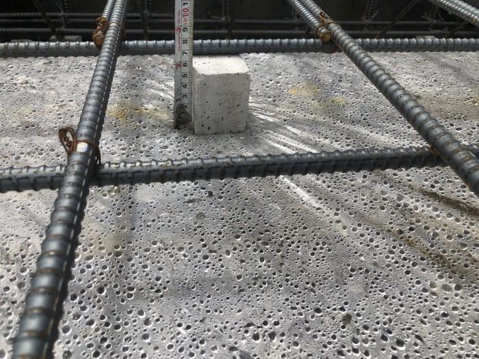 コンクリートのかぶり厚さの確認です。郡山市田村町T様邸  郡山市 新築住宅 大原工務店のブログ