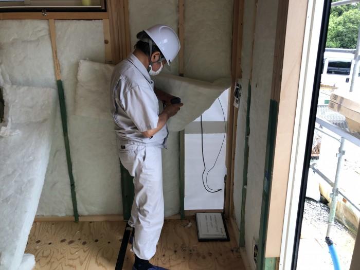 郡山市日和田 検査の様子です。 郡山市 新築住宅 大原工務店のブログ