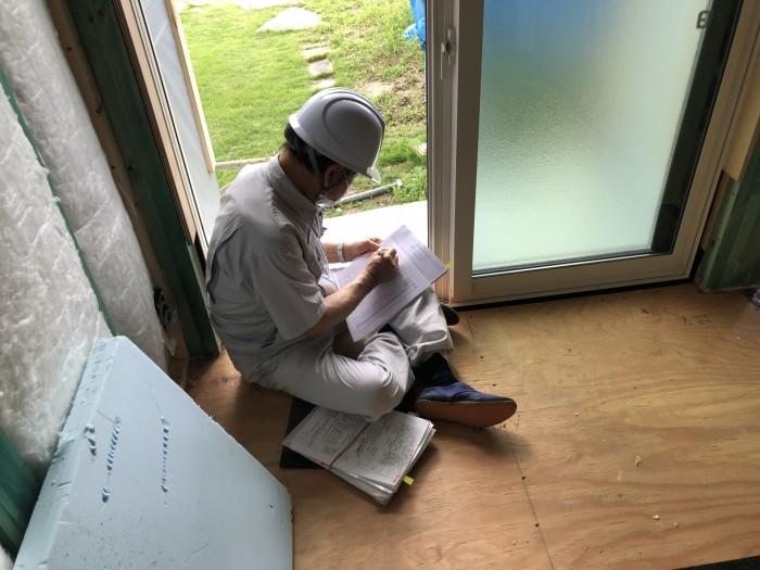 上棟検査の確認です。 郡山市 新築住宅 大原工務店のブログ