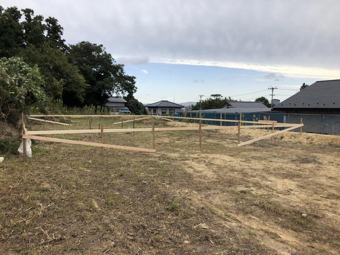 新築住宅の丁張です。|郡山市 新築住宅 大原工務店のブログ