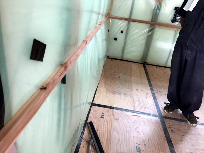 気密測定の様子です N様邸 本宮市高木 郡山市 新築住宅 大原工務店のブログです