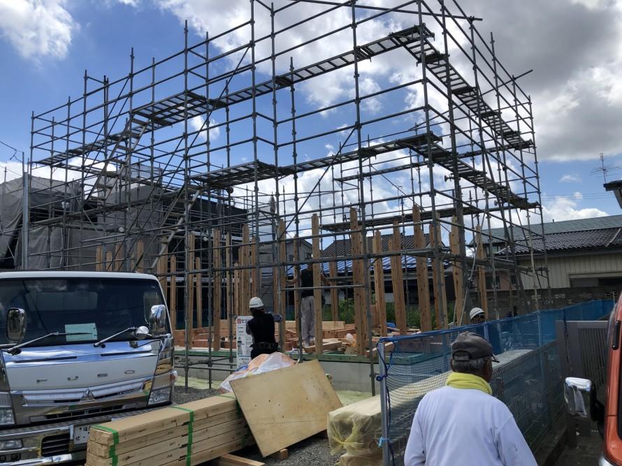 郡山市富田町T様邸で上棟しました。 郡山市 新築住宅 大原工務店のブログ