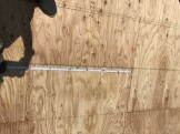 屋根の釘ピッチです。|郡山市 新築住宅 大原工務店のブログ