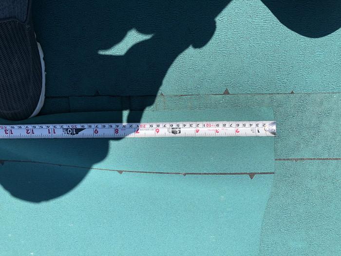 屋根のルーフィングの重ねチェックです。|郡山市 新築住宅 大原工務店のブログ