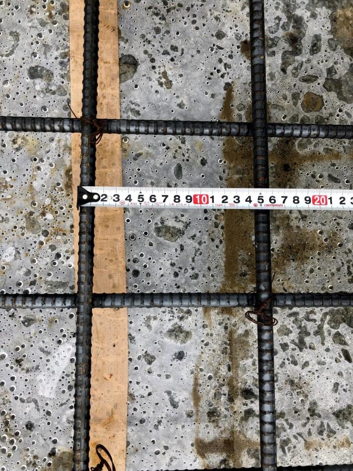 スラブの配筋ピッチの確認です。郡山市喜久田町I様邸  郡山市 新築住宅 大原工務店のブログ