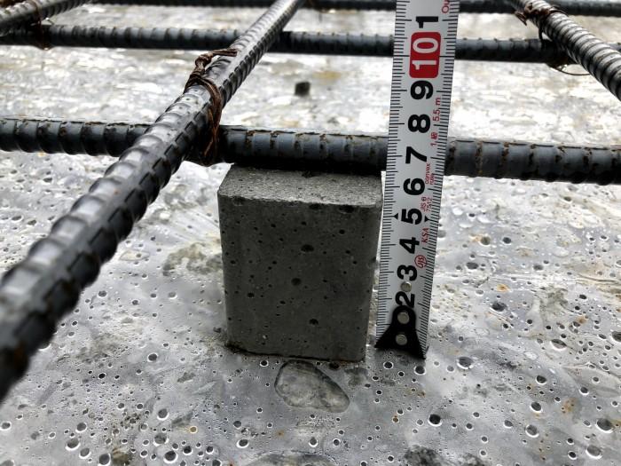 コンクリートのかぶり厚さの確認です。郡山市喜久田町I様邸  郡山市 新築住宅 大原工務店のブログ