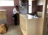 造作カウンターの塗装工事です。|郡山市 新築住宅 大原工務店のブログ