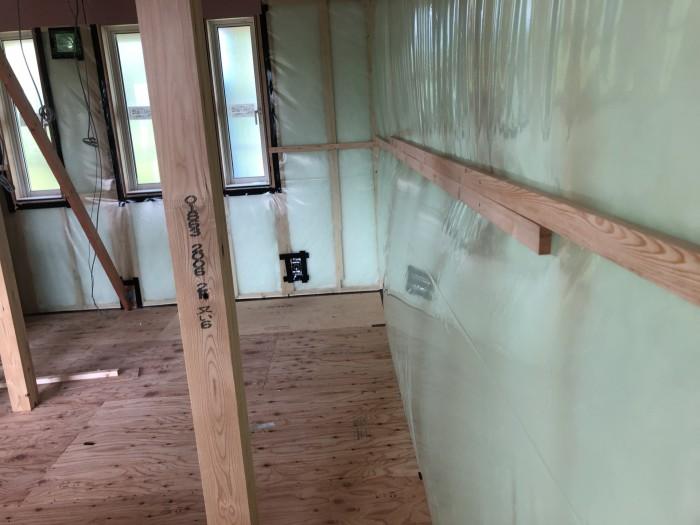 機密測定の様子です。郡山市日和田町  郡山市 新築住宅 大原工務店のブログ