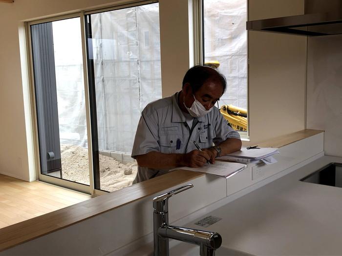 完了検査の様子です。郡山市安積町  郡山市 新築住宅 大原工務店のブログ
