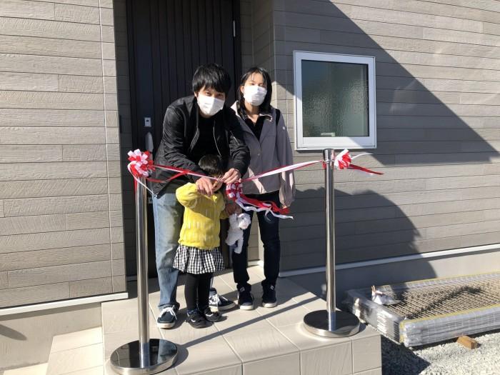 テープカットの様子です!| 郡山市 新築住宅 大原工務店のブログ