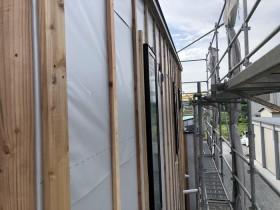 外壁の下地工事です。|郡山市 新築住宅 大原工務店のブログ