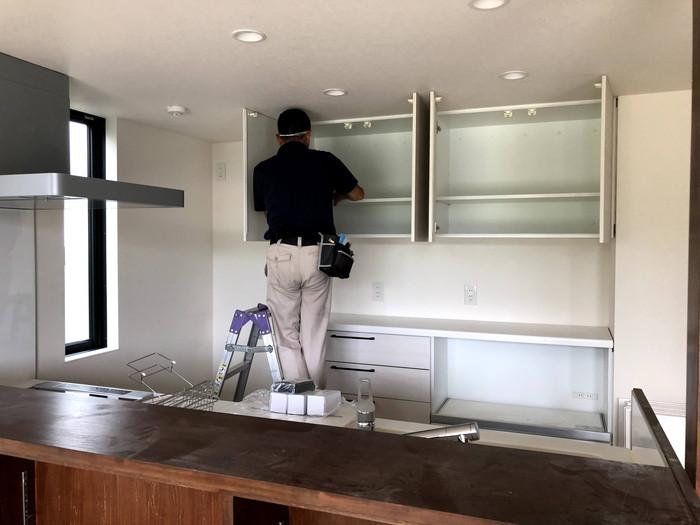 棚の中も綺麗にします。 郡山市 新築住宅 大原工務店のブログ