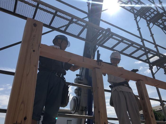 新築の上棟です。|郡山市 新築住宅 大原工務店のブログ
