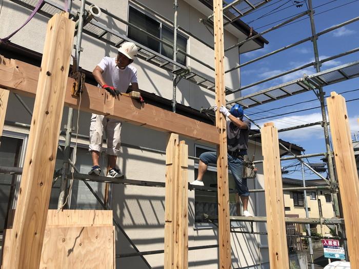 新築住宅の躯体の組み上げです。|郡山市 新築住宅 大原工務店のブログ