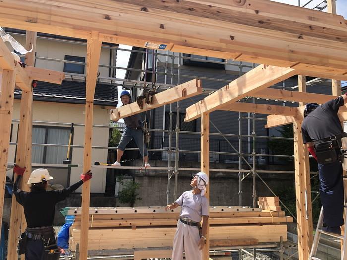 新築住宅の上棟風景です。|郡山市 新築住宅 大原工務店のブログ