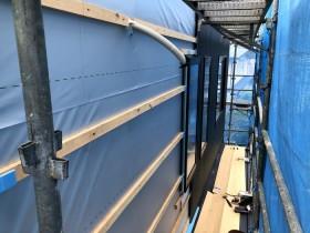 外壁施工進んでます。郡山市安積町| 郡山市 新築住宅 大原工務店のブログ