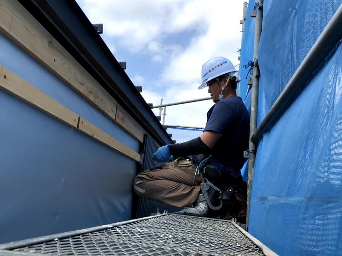 外壁を張っていきます。郡山市安積町| 郡山市 新築住宅 大原工務店のブログ
