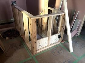 階段の笠木の造作です。|郡山市 新築住宅 大原工務店のブログ