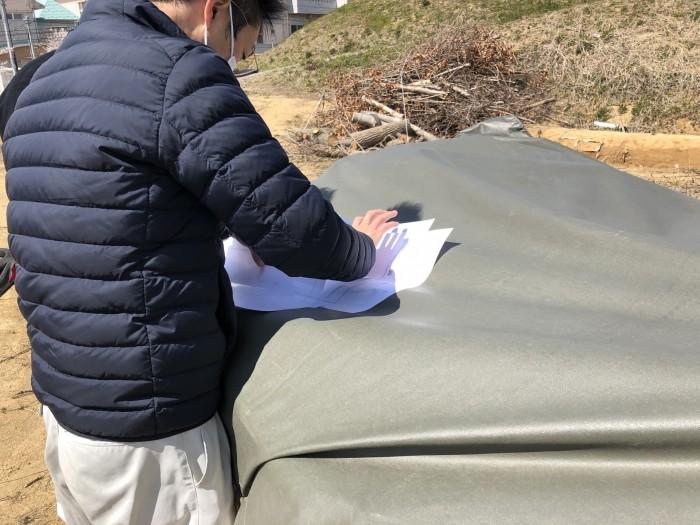 測ったところは、図面に記録しています。郡山市富久山町八山田| 郡山市 新築住宅 大原工務店のブログ