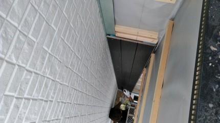外部では、同時進行で外壁貼りが進んでおります。田村郡三春町|郡山市 新築住宅 大原工務店のブログ