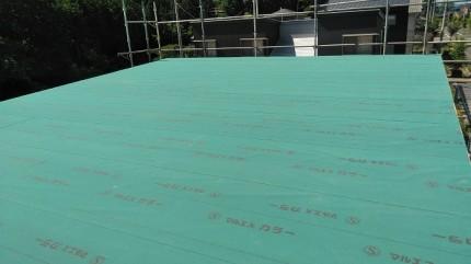 ルーフィングを施工して上棟が終わります。須賀川市北横田|郡山市 新築住宅 大原工務店のブログ