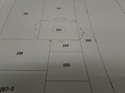 郡山市 新築住宅 公図