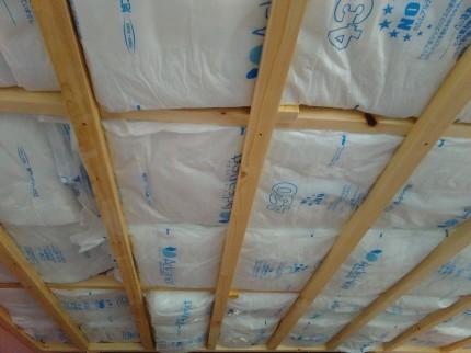 2階の屋根裏断熱工事 郡山市 新築住宅