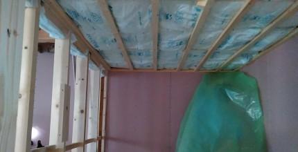 郡山市桜ケ丘Y様邸で天井の断熱材が施工完了。 | 郡山市 新築住宅 大原工務店のブログです。