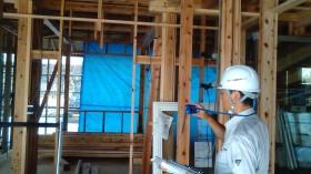 郡山市富田町新築工事にて住宅センターによるまもりすまい保険の上棟検査 | 郡山市 新築住宅 大原工務店のブログ