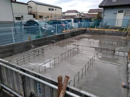 スラブの打設を行いました 郡山市昭和 |郡山市 新築住宅 大原工務店のブログ