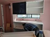 カップボードと吊戸棚を取り付けてます。本宮市葭ヶ入|郡山市 新築住宅 大原工務店のブログ