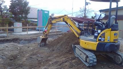 基礎工事 根切り 須賀川市 新築注文住宅