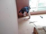 新築フローリング施工です。