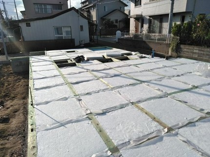 新築の床の断熱材です。|郡山市 新築住宅 大原工務店のブログ