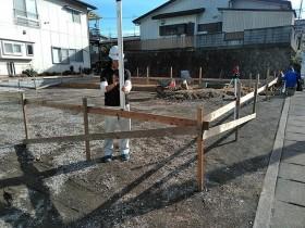 新築の着工前です。|郡山市 新築住宅 大原工務店のブログ