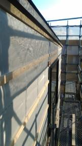 神明下モデルハウスの外壁の下地材を施工中です。 | 郡山市 新築住宅 大原工務店のブログ