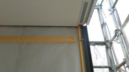 外部の軒天工事です。|郡山市 新築住宅 大原工務店のブログ