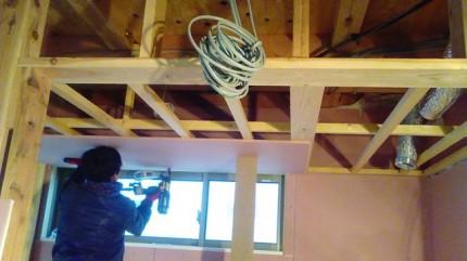 内部の石膏ボード施工です。|郡山市 新築住宅 大原工務店のブログ