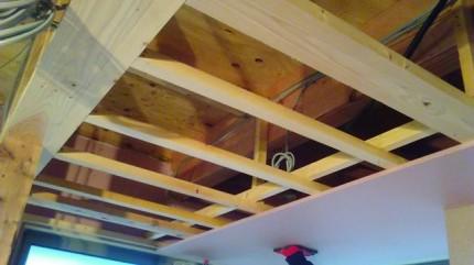 新築の天井下地です。|郡山市 新築住宅 大原工務店のブログ