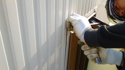 外壁に白のガルバを施工しております。田村市船引町|郡山市 新築住宅 大原工務店のブログ