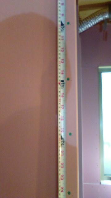 石膏ボードのビスピッチチェックです。|郡山市 新築住宅 大原工務店のブログ