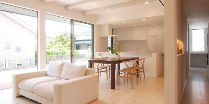 開放的なリビング・ダイニング・キッチン|郡山市 デザイン住宅 大原工務店の商品ラインアップ