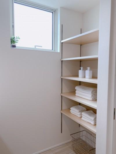 お客様邸の洗面所です!  郡山市 新築住宅 大原工務店のブログ