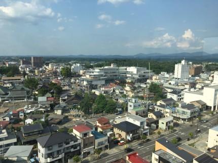 須賀川市の市役所にある展望台からの流れです。須賀川市北横田|郡山市 新築住宅 大原工務店のブログ