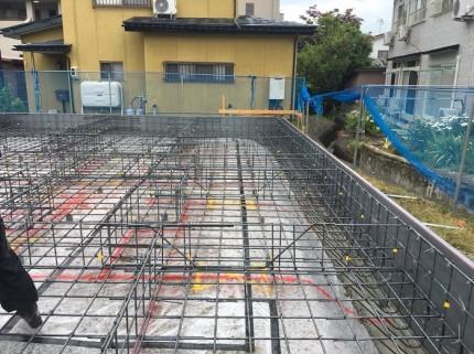 基礎コンクリートを打つ前の配筋部分です。福島県会津若松市|郡山市 新築住宅 大原工務店のブログ