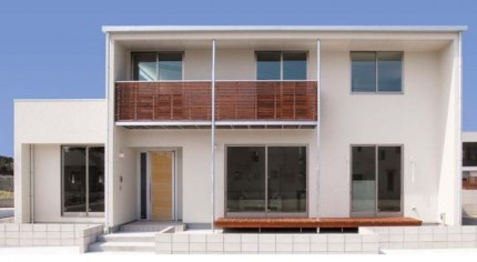 白いキューブ型のお家です。福島県会津若松市|郡山市 新築住宅 大原工務店のブログ